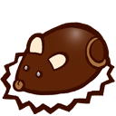 Souris En Chocolat Sticker