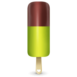 Ice Cream Green Sticker
