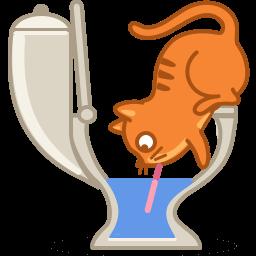 Cat Drink Sticker
