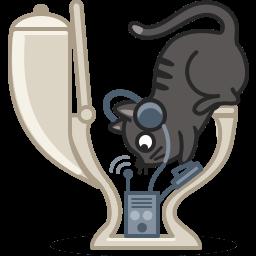 Cat Radio Sticker