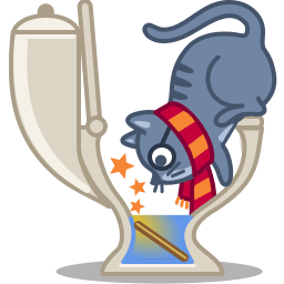 Cat Wizard Sticker