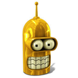 Bender Glorious Golden Sticker