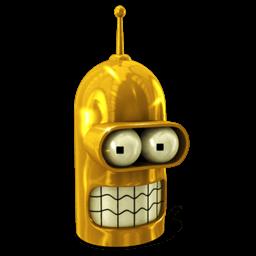 Bender Glorious Golden Sticker