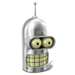 Bender Shiny Metal Sticker