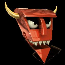 Robot Devil Sticker