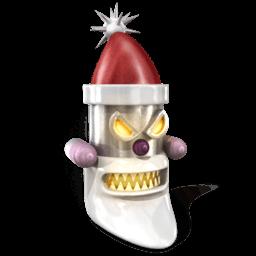 Robot Santa Sticker