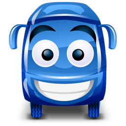 Bus Blue Sticker