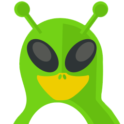 Alien Tux Sticker