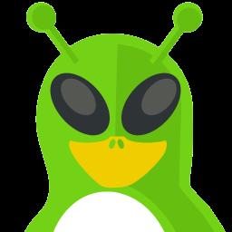 Alien Tux Sticker