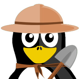 Archaeologist Tux Sticker