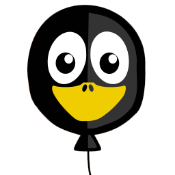 Balloon Tux Sticker