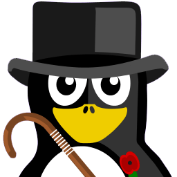 British Tux Sticker