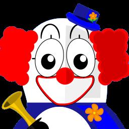 Clown Tux Sticker