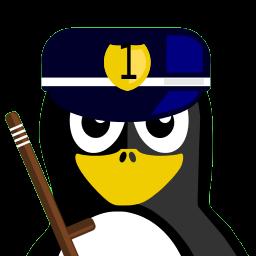 Cop Tux Sticker