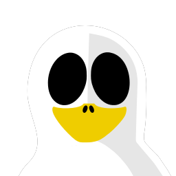 Ghost Tux Sticker