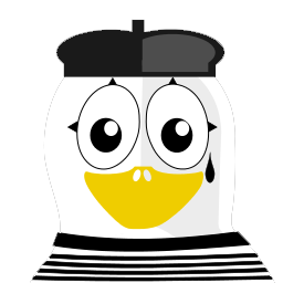 Mime Tux Sticker