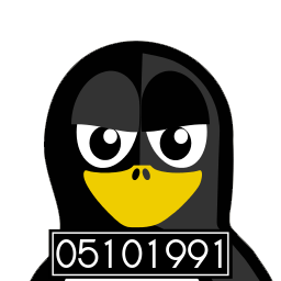 Mugshot Tux Sticker