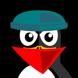 Robber Tux Sticker