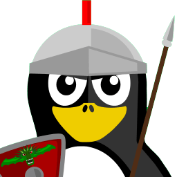 Roman Soldier Tux Sticker