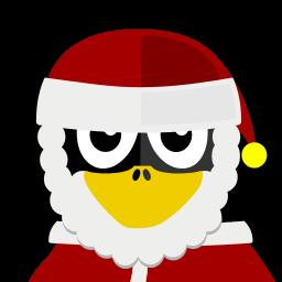 Santa Tux Sticker