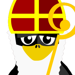Sint Tux Sticker