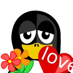 Valentine Tux Sticker