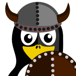 Viking Tux Sticker