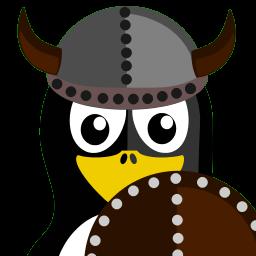 Viking Tux Sticker