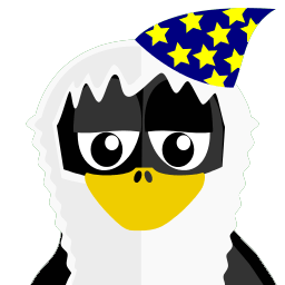 Wizzard Tux Sticker