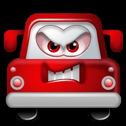 Auto Angry Sticker