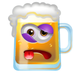 Beer Beaten Sticker