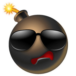 Bomb Cool Sticker