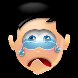 Boy Cry Sticker