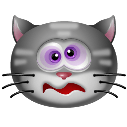 Cat Dizzy Sticker