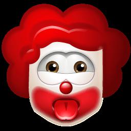 Clown Impish Sticker