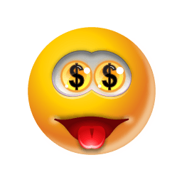 Emoticon Money Sticker