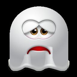 Ghost Sad Sticker