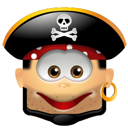 Pirate Smile Sticker