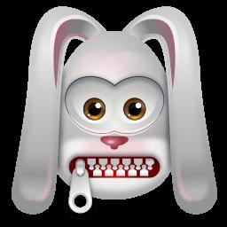 Rabbit Stoptalking Sticker