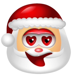 Santa Claus Adore Sticker