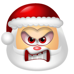 Santa Claus Angry Sticker