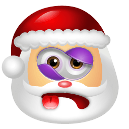 Santa Claus Beaten Sticker