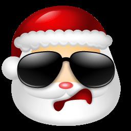 Santa Claus Cool Sticker