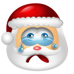 Santa Claus Cry Sticker