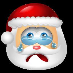 Santa Claus Cry Sticker