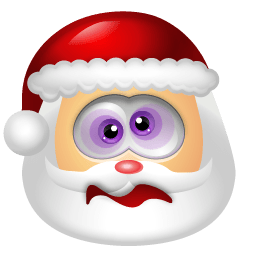 Santa Claus Dizzy Sticker