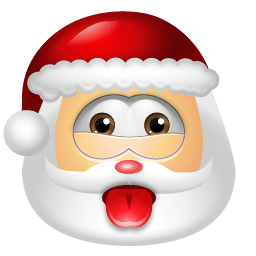 Santa Claus Impish Sticker