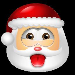 Santa Claus Impish Sticker