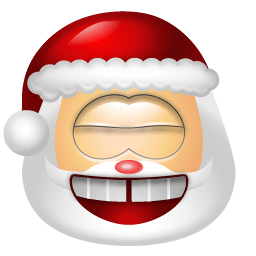 Santa Claus Laugh Sticker