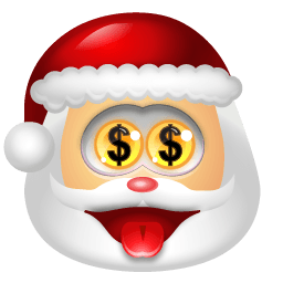 Santa Claus Money Sticker